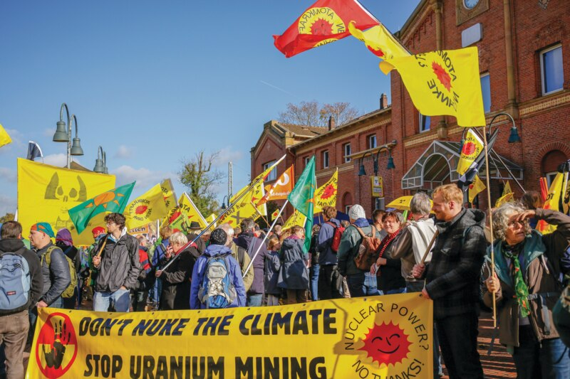 Demo Lingen Don't nuke the climate stop uranium mining
